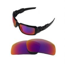NEW POLARIZED REPLACEMENT  LIGHT +RED LENS FOR OAKLEY OIL DRUM SUNGLASSES